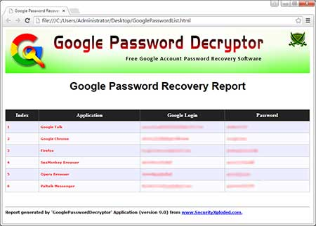 how to get my password stored on google