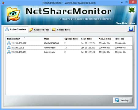 NetShareMonitor showing recovered passwords