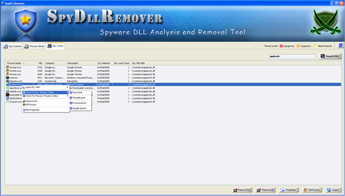 SpyDllRemover - Searching for Spy Dlls